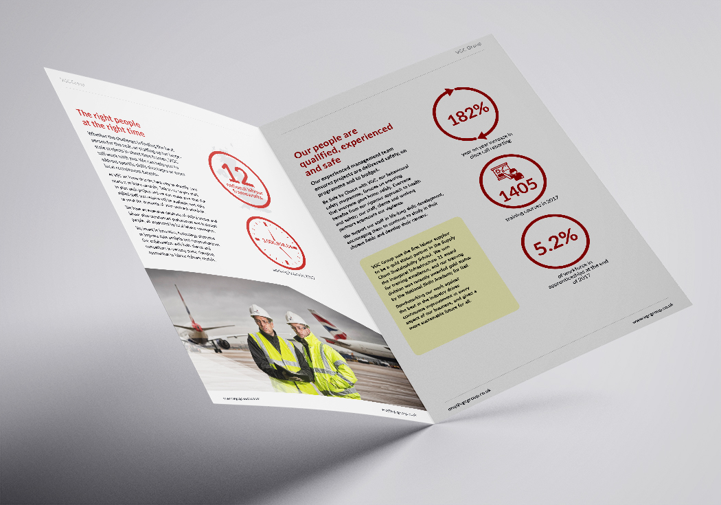 VGC corporate brochure spread