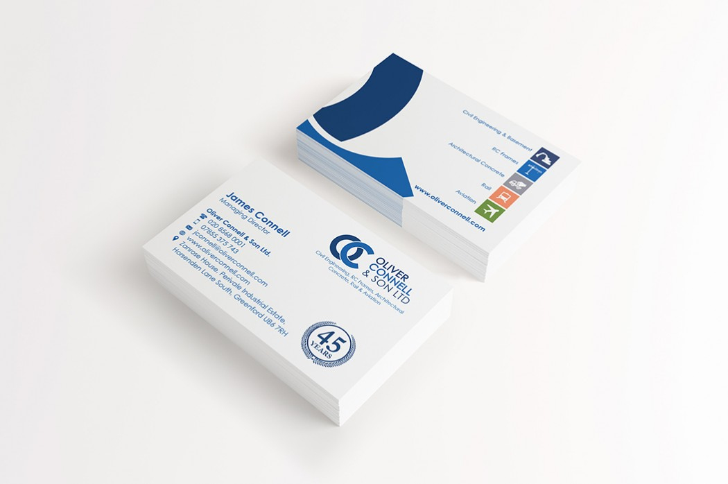 Oliver Connell business card design
